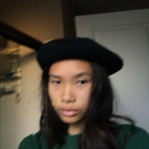 Black art hat